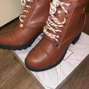 Chase + Chloe Shoes - Chase & Chloe Combat Boot